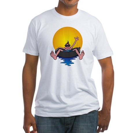 Tubing down the River Fitted T-Shirt