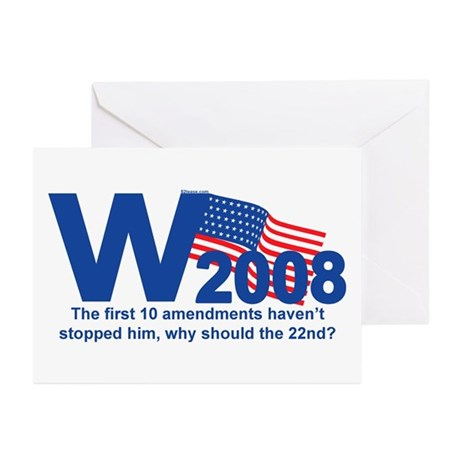 W in 2008 Joke Greeting Cards (Pk of 10)