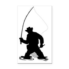 fly fisherman fishing silhoue Rectangle Car Magnet