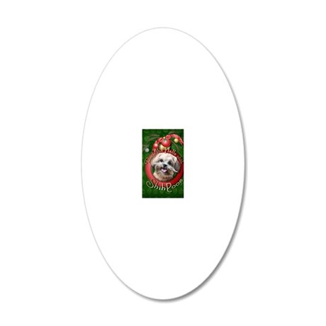 DeckHalls_ShihPoos_Maggie 20x12 Oval Wall Decal
