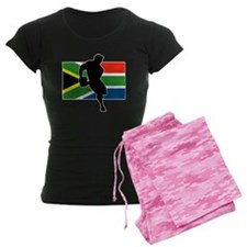 rugby player flag south afri Pajamas