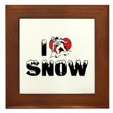 I Love Snow Framed Tile