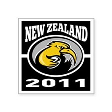 "kiwi rugby player new zeala Square Sticker 3"" x 3"""