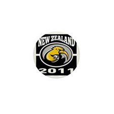 kiwi rugby player new zealand 2011 Mini Button