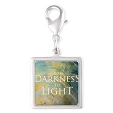PSTR-from darkness to light Silver Square Charm