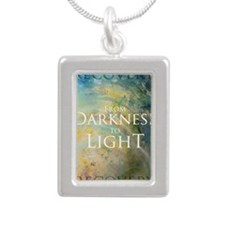 PSTR-from darkness to li Silver Portrait Necklace