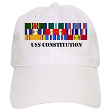 uss-constitution-group-text Baseball Cap