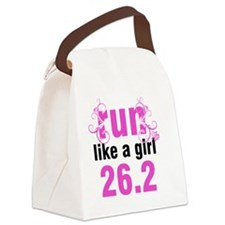 runlikeagirl_swirlpink26_sticker Canvas Lunch Bag