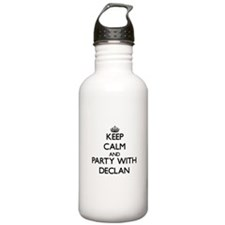 Keep Calm and Party with Declan Water Bottle