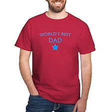 World's Best Dad (Aqua) - Cardinal T-Shirt