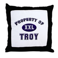 My heart belongs to troy Throw Pillow