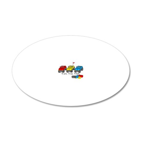 veni vidi lego sm 20x12 Oval Wall Decal