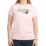 New Monkey in Our Tree Women's Pink T-Shirt