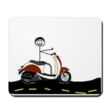Cute Retro scooter Mousepad