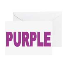 think-PURPLE-Fibromyalgia-blk Greeting Card