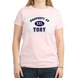 My heart belongs to tory Women's Pink T-Shirt
