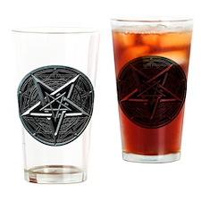 pentagram_medalion2_trans Drinking Glass