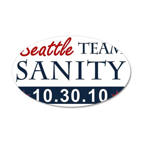 A1 Seattle teamsanity 35x21 Oval Wall Decal