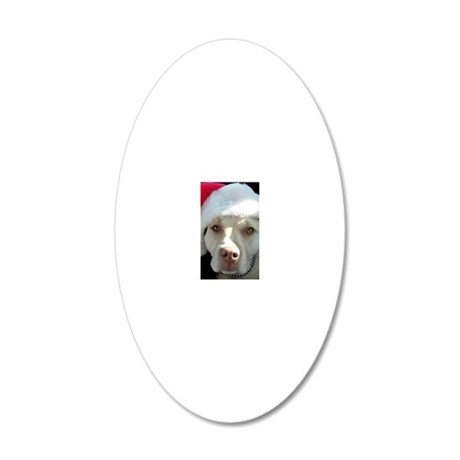 2-christmas lola Front 20x12 Oval Wall Decal