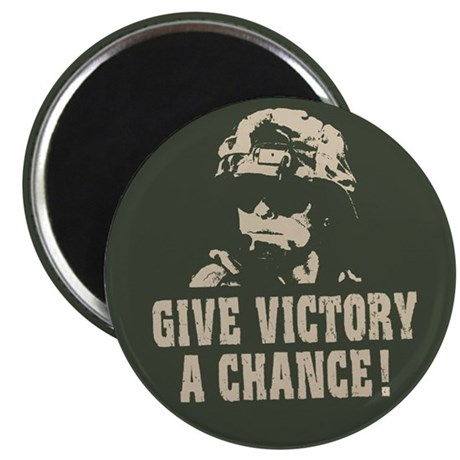 "Give Victory A Chance! 2.25"" Magnet (100 pack)"