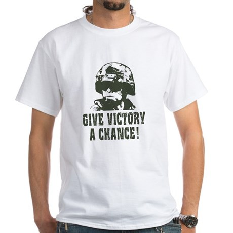 Give Victory A Chance! White T-Shirt