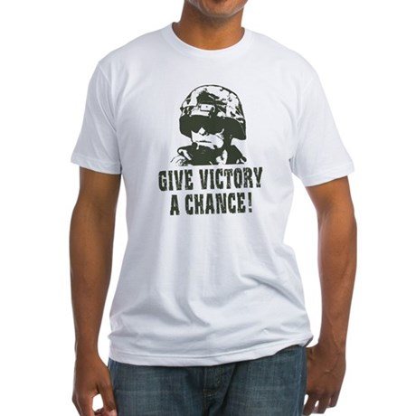Give Victory A Chance! Fitted T-Shirt