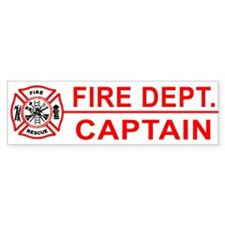 Fire Department Captain Bumper Bumper Stickers