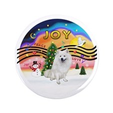 "XMusic2 - American Eskimo Dog 3.5"" Button"
