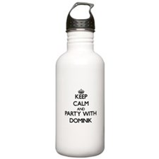 Keep Calm and Party with Dominik Water Bottle