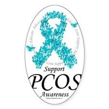 PCOS-Ribbon-Of-Butterflies Decal