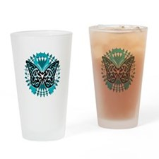 PCOS-Butterfly-Tribal-2-blk Drinking Glass