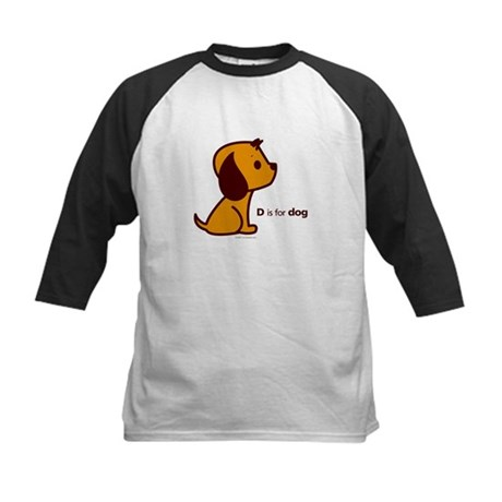 D is for Dog Kids Baseball Jersey