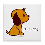 D is for Dog Tile Coaster