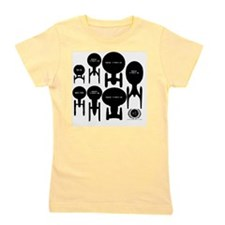 Starship Enterprise History square Girl's Tee