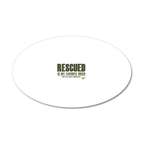 Rescue Pets 20x12 Oval Wall Decal