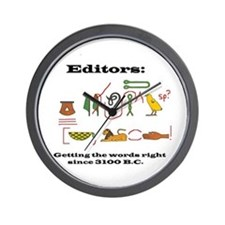 Editors in History Wall Clock