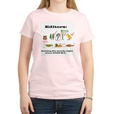 Editors in History Women's Pink T-Shirt
