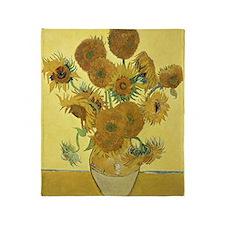 Sunflowers by Vincent Van Gogh Throw Blanket