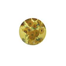 Sunflowers by Vincent Van Gogh Mini Button