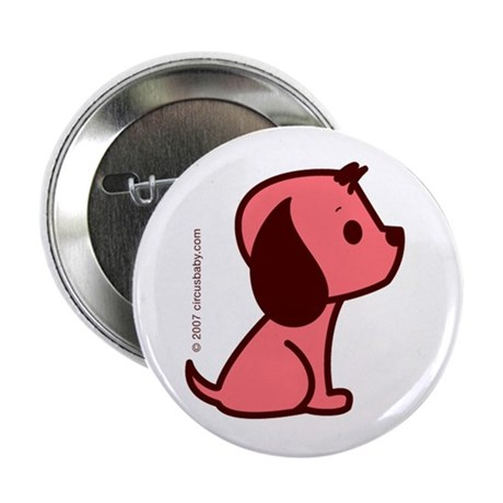 Pink Dog Button
