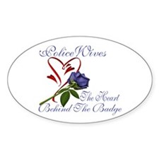 HEart Behind Oval Decal