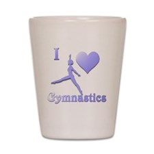 i love gymnastics #7 Shot Glass