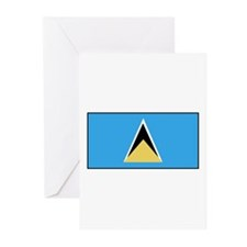 St. Lucia Flag Greeting Cards (Pk of 10)