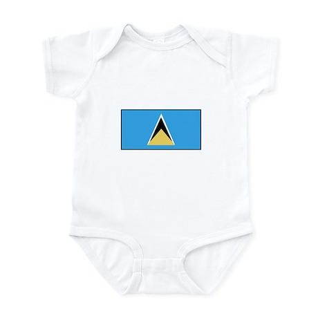 St. Lucia Flag Infant Bodysuit