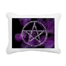 pentagrampurple_minipost Rectangular Canvas Pillow