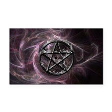 pentagram3_miniposter_12x18_f Rectangle Car Magnet