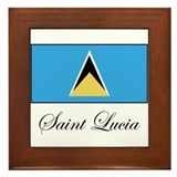 Saint Lucia - Flag Framed Tile