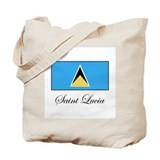 Saint Lucia - Flag Tote Bag