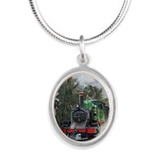 Puffing Billy at Selby Silver Oval Necklace