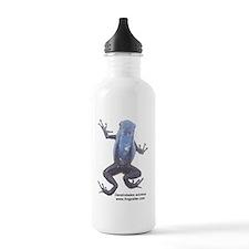 2-azureus labeled blac Water Bottle